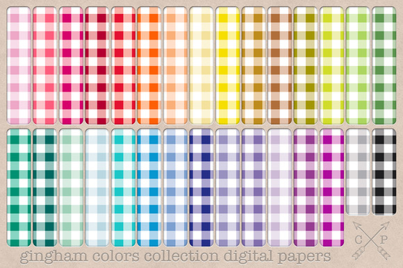 Gingham Digital Papers Backgrounds