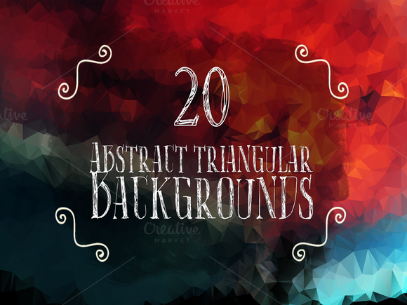 20 Abstract Triangular Backgrounds