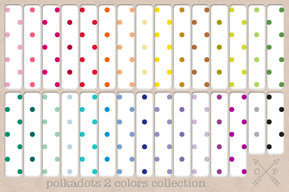 Polkadots Digital Papers Backgrounds