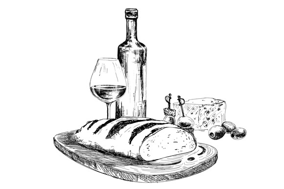 Wine Bread And Blue Cheese