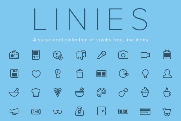 Linies Line Icon Set