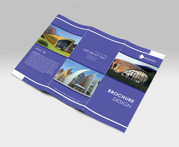 Simple Clean Tri-fold Brochure