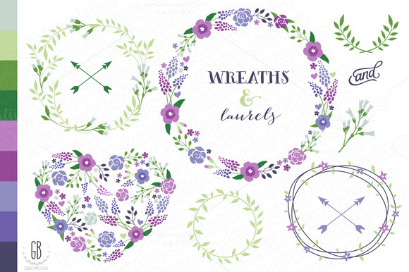 Flower Wreaths Paper Goods Col21