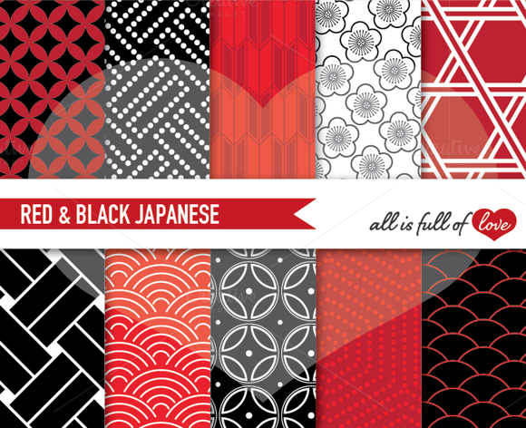 Geometric Patterns Japanese Inspired