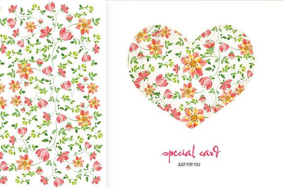 Images Set Of Flower Pattern