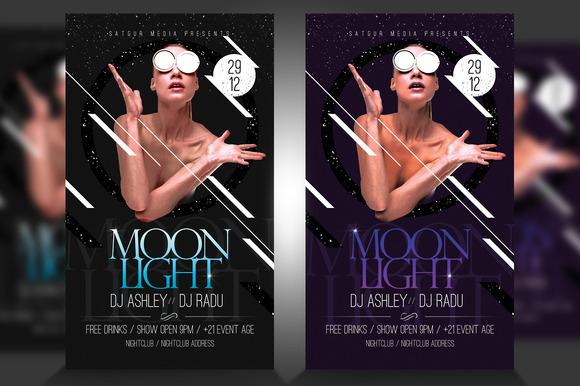 Moonlight Flyer Template PSD