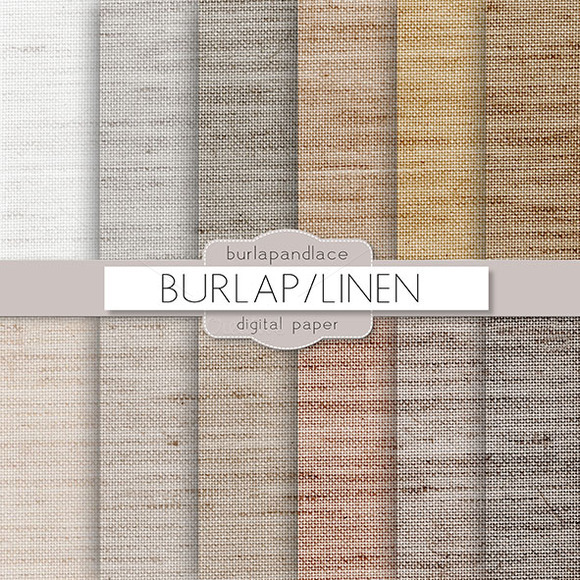 Burlap Linen Natural Digital Paper