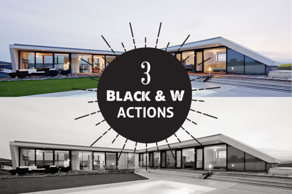 3 Black White Photoshop Actions