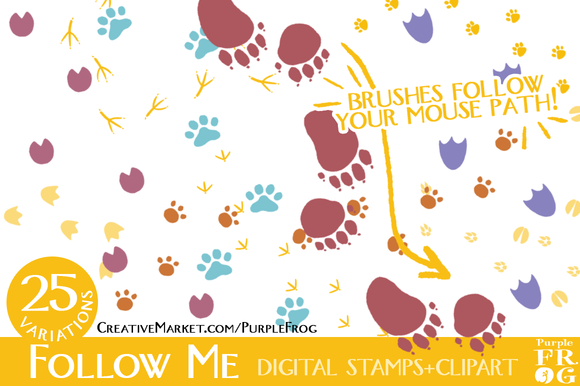 Follow Me Digital Stamps Brushes