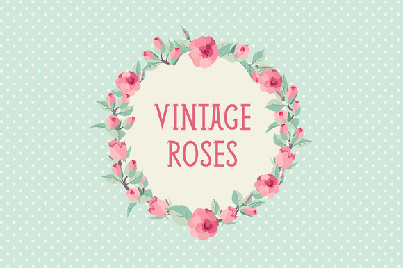 Vintage Roses Backgrounds Set