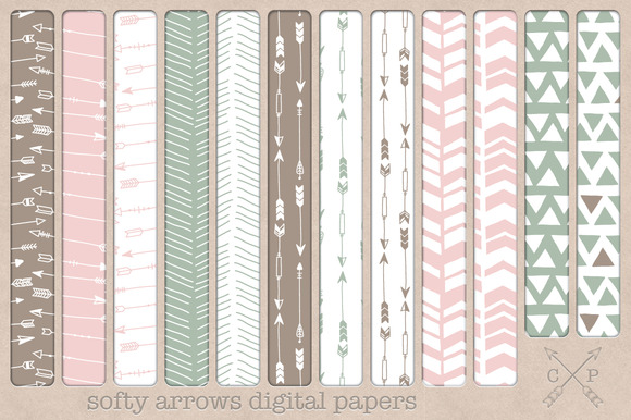Handdrawn Tribal Digital Papers