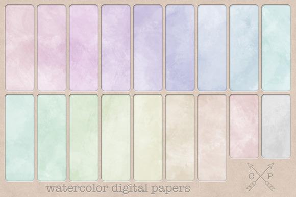 Watercolor Soft Digital Papers
