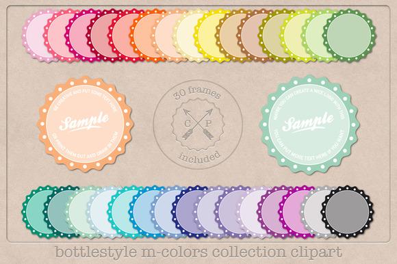 Retro Bottlecap Style Labels
