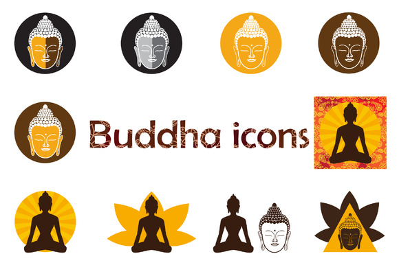 Set Of Buddha Icons