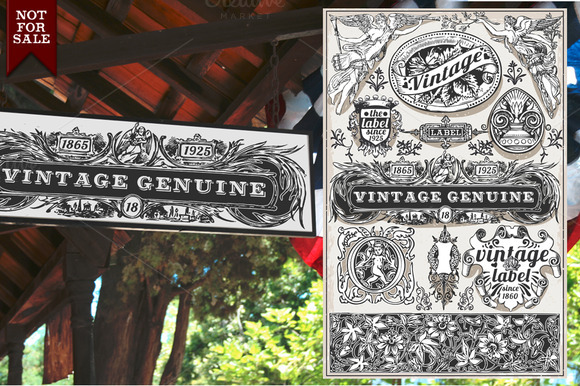 Vintage Genuine Banners Labels