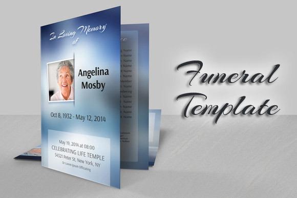 BiFold Modern Funeral Template