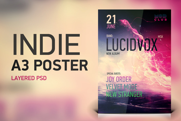 Indie A3 Poster