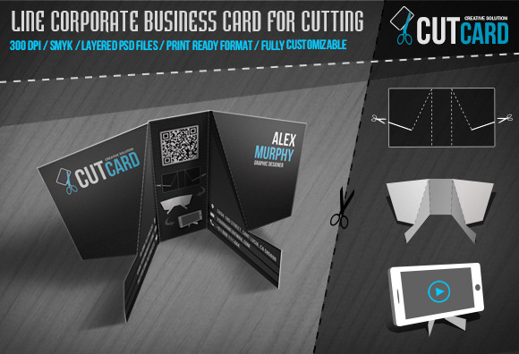 CutCard Business Card For Cutting