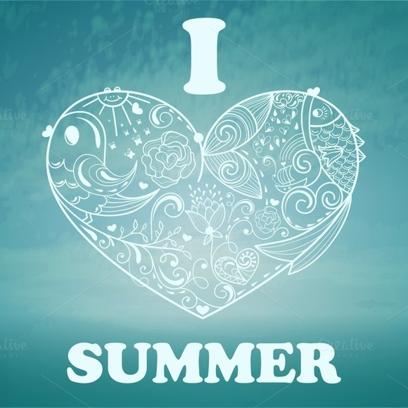 Vector Summer Background With Blue S