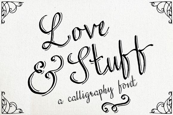 Love Stuff Calligraphy Font