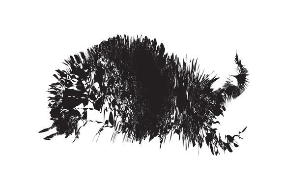 Silhouette Shape Of Running Bull