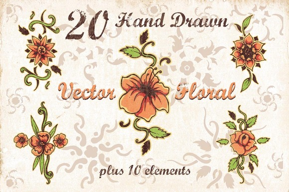 Hand Drawn Vector Floral