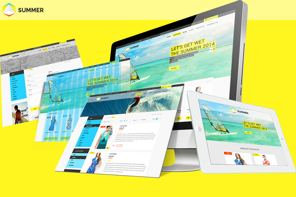 Summer Parallax ECommerce Template