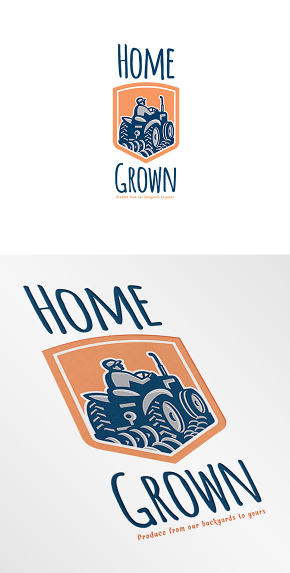 Home Grown Produce Retro Logo