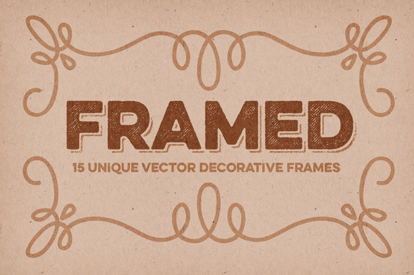 15 Decorative Vector Frames