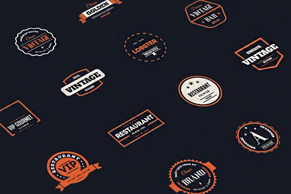 20 Vintage Logos Badges Vol 3