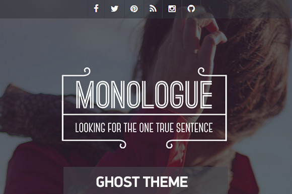 Monologue Responsive Ghost Theme