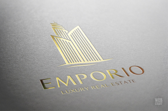 Luxury Real Estate Logo Template