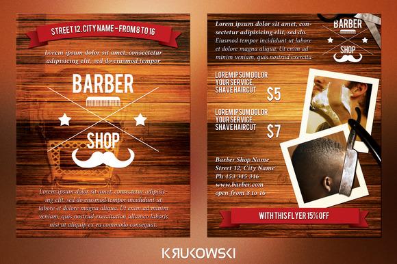 Barber Shop 2 Sided Flyer