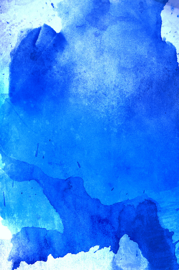 Blue Handmade Watercolor Background