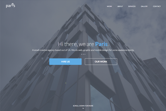 Paris One Page HTML Template