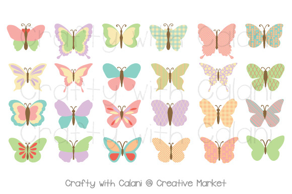 Butterfly Clipart With Patterns