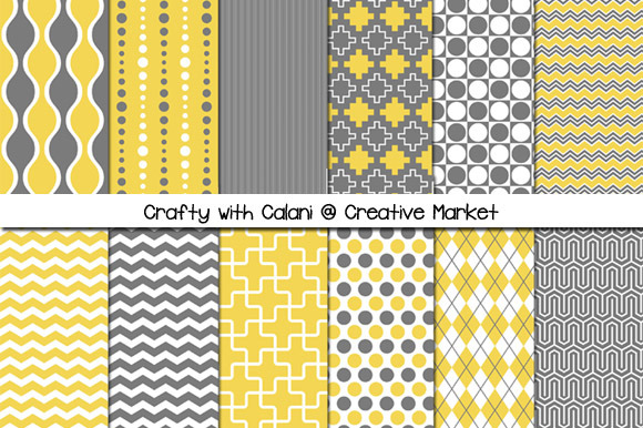 Mustard Gray Digital Paper