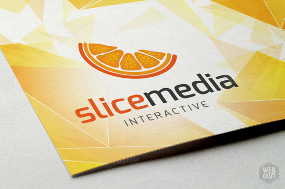 Slice Media Logo Template
