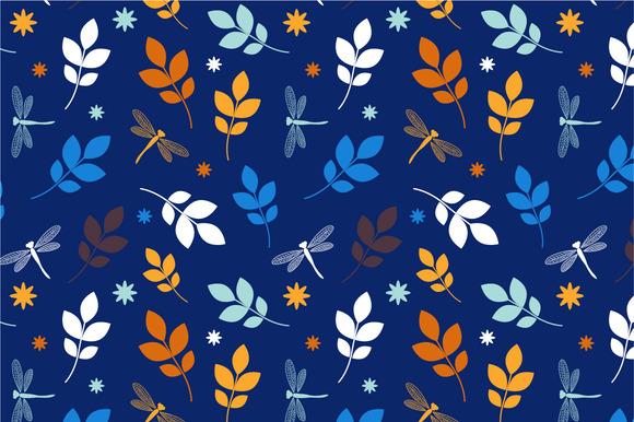 Seamless Pattern Blue Summer