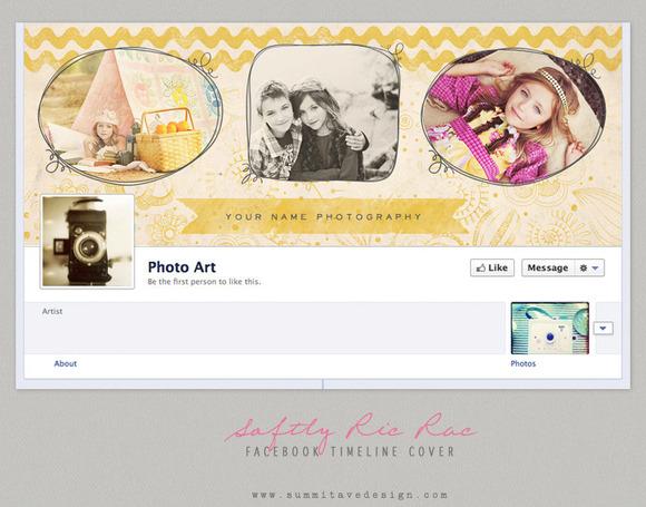 Vintage Gold Facebook Timeline Cover
