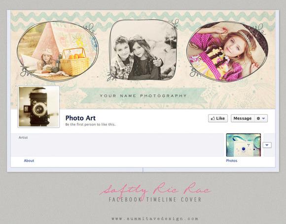Vintage Aqua Facebook Timeline Cover