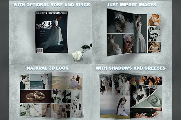 10 Page Wedding Album Mock-Up