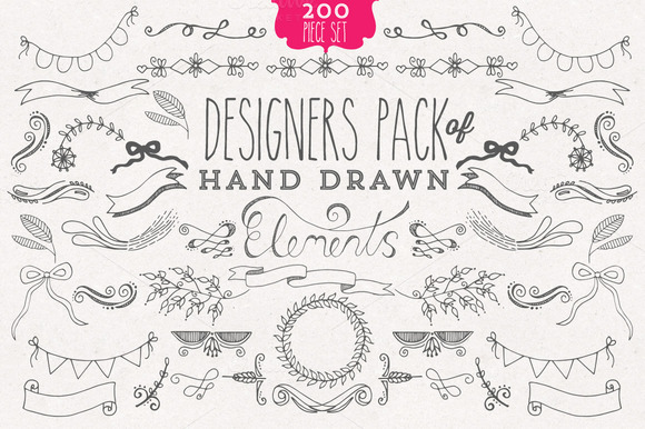 Hand Drawn Designers Element Kit