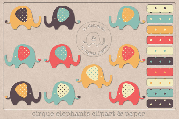 Cirque Elephants Clipart And Papers