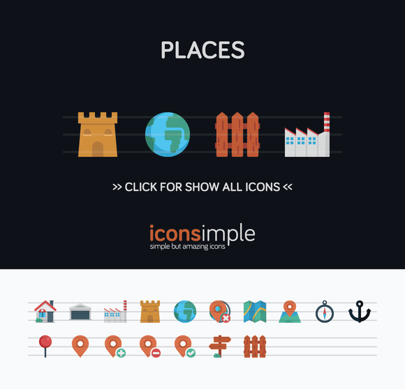 Iconsimple Places