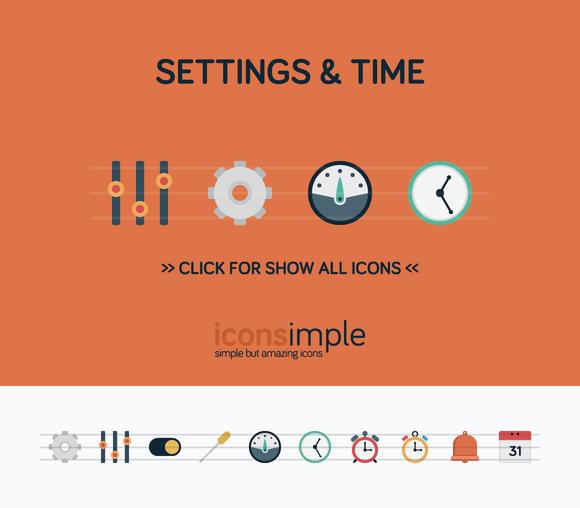 Iconsimple Settings Time