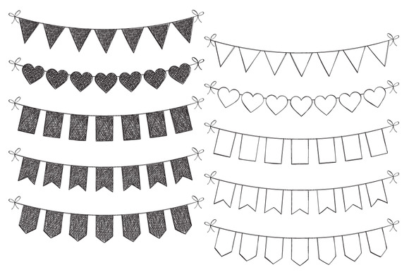 Hand Drawn Bunting Set