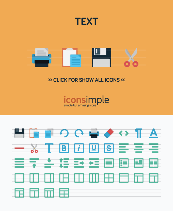 Iconsimple Text