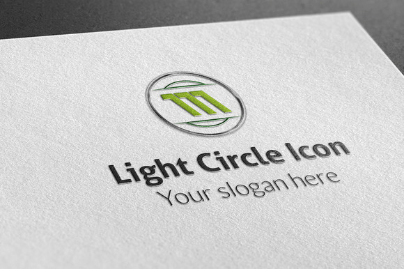 Light Circle Icon Logo