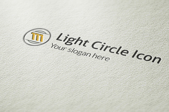Light Circle Icon Logo